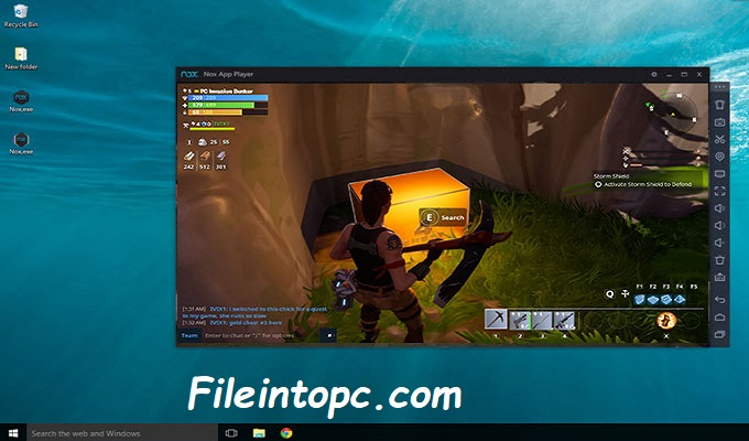 Play Fortnite mobile on PC NoxPlayer